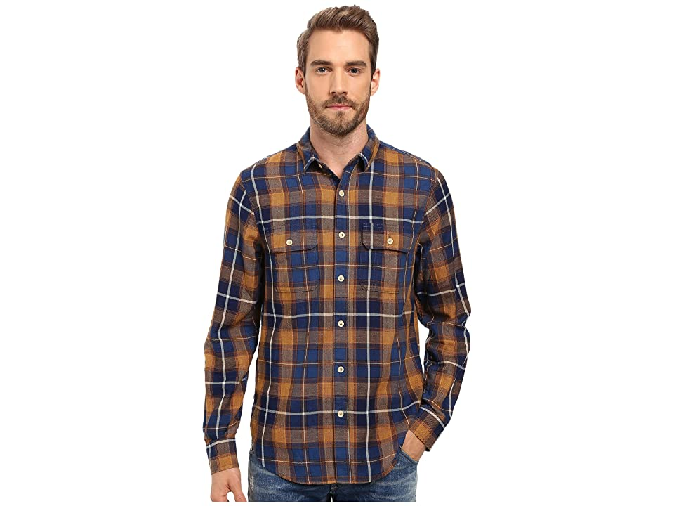 Lucky Brand Miter Workwear Shirt (Indigo/Mustard) Men
