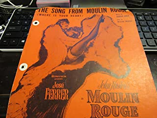Where is your Heart - The Song from Moulin Rouge Sheet Music - Zsa Zsa Gabor and Suzanne Flon