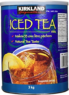 Kirkland signature Ice Tea Mix 3kg 6.6 Pounds Makes 33 Litres {Imported from Canada}