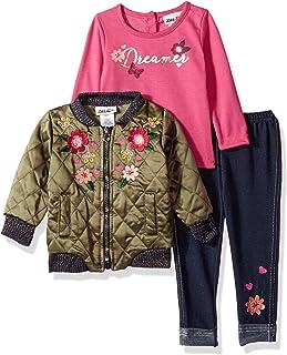 93e2c55b510e Little Lass Baby Girls' 3pc Outerwear Jacket Set