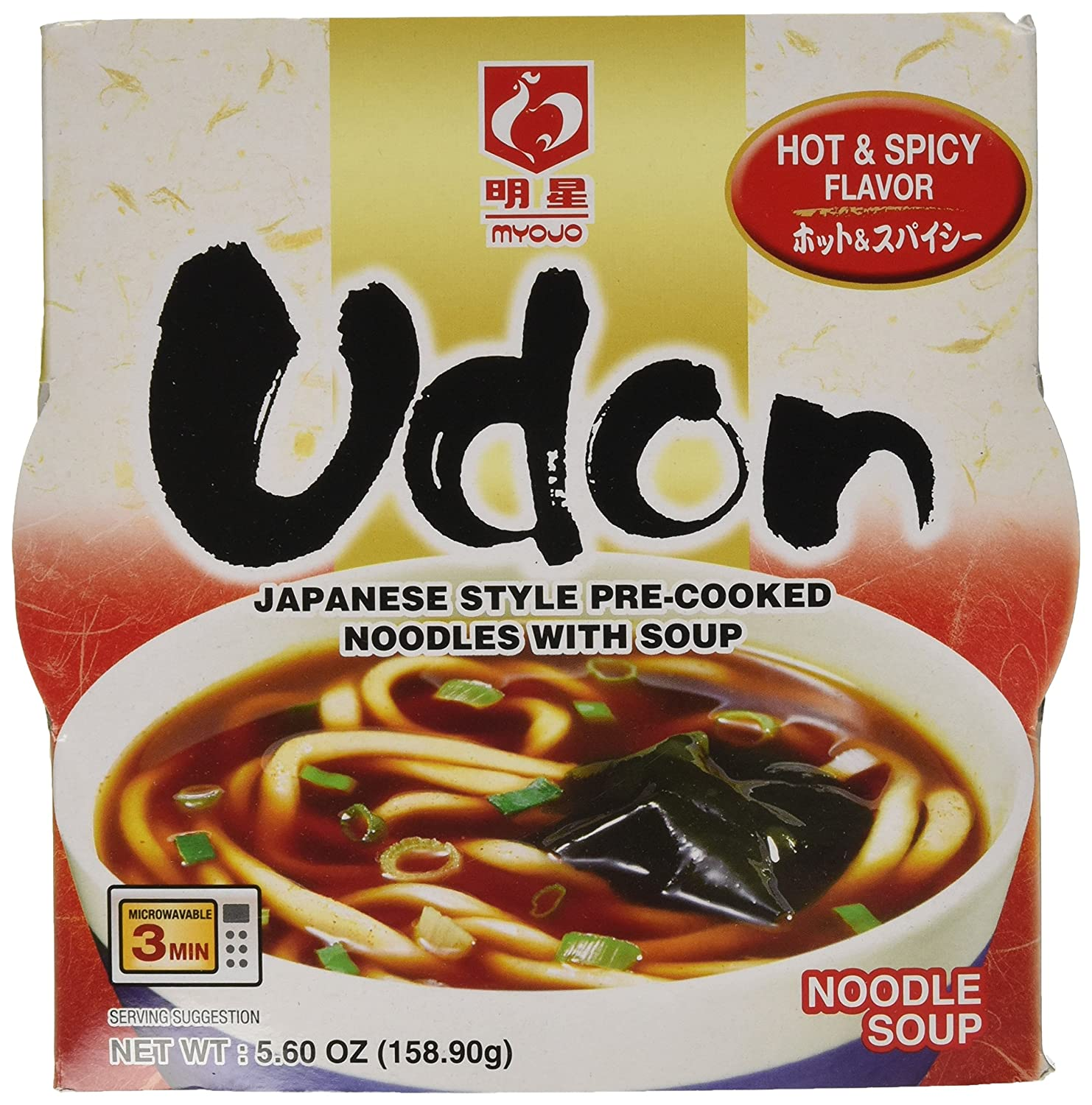 Myojo Bowl Beauty products Flavored Udon Noodles Hot of Pack Spicy Oz 5.60 Max 56% OFF and