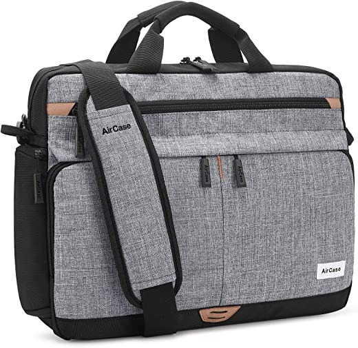 AirCase C30 Laptop Bag Messenger Bag Case for 13-Inch/ 14 Inch/ 15.6 Inch Laptop MacBook | Water Resistant Compartments, Multi-Pockets...