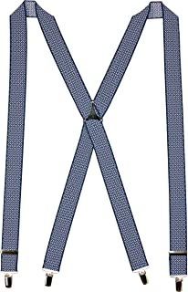 Buckle | 1922 Men's Fancy Navy Tetris 35mm Braces with Nickel Clips, Navy Argyle, One size