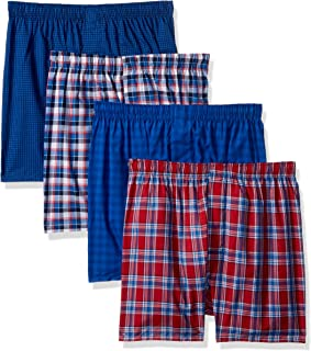 Men's 4-Pack Comfortblend Woven Boxers with Freshiq