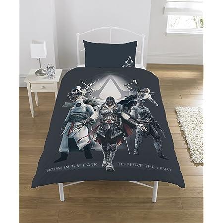 Assassins Creed - Juego de Funda de edredón (polialgodón), Multicolor