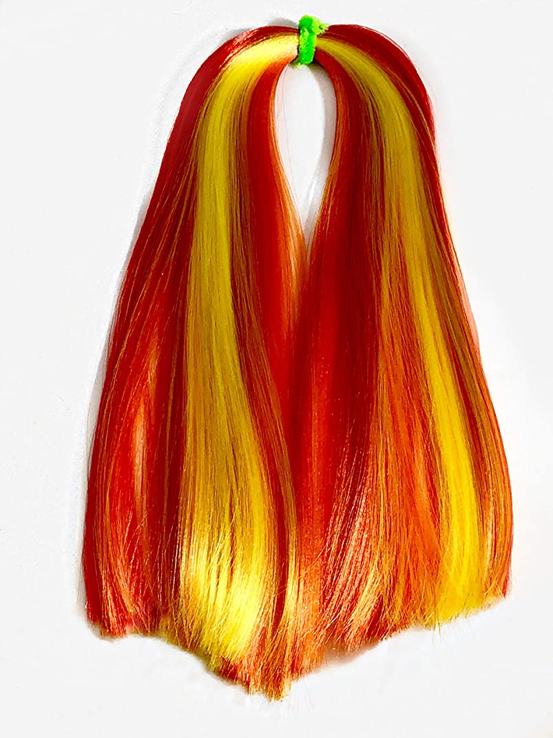 Fire - Dolltress Nylon Doll Hair for rerooting Dolls and Wig Making, 1/2 Tress -20gm, DIY/BJD/MLP/Barbie/Blythe/Monster High