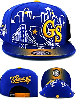 best website 7afb2 2ffdf Leader of the Game Golden State New GS Skyline 3 Bridge Warriors Colors  Blue Gold Era
