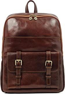 Leather Backpack - The Divine Comedy (Marrón)