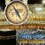 イスラム教徒の祈りタイムズ - キブラコンパス