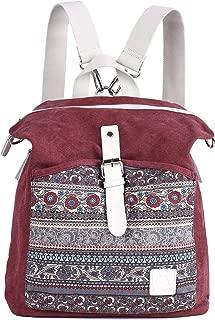 Women Girl Backpack Canvas Rucksack Shoulder Bag