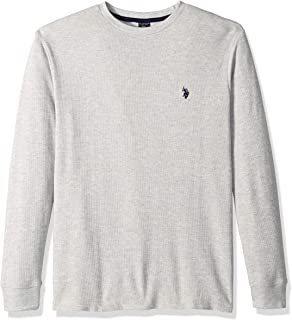 U.S. Polo Assn. Men's Long Sleeve Crew Neck Solid Thermal...