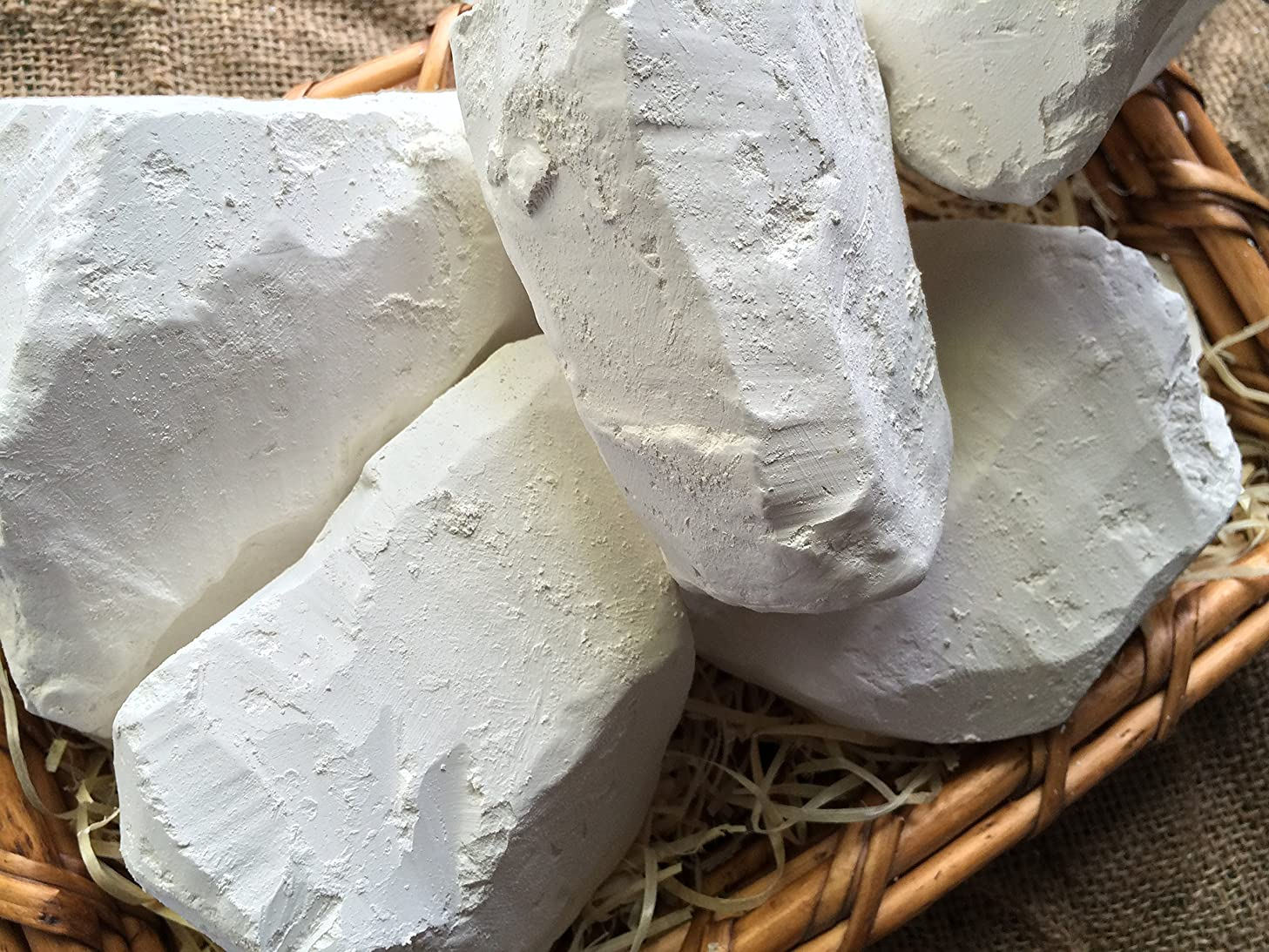 Edible chalk, SUMY edible Chalk chunks (lump) natural for eating (food), 4 oz (113 g)