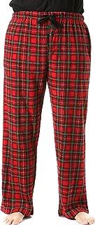 Image of Fleece Men's Red Plaid Christmas Pajama Pants with Pockets