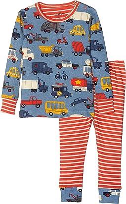 Hatley Kids Rush Hour Long Sleeve Mini Pajama Set (Infant)