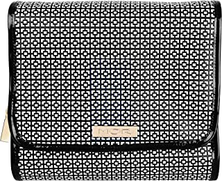 MOR Boutique London Hanging Fold out Cosmetic Bag, Black/white, 405g