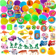 "JOYIN 120 Pcs Pre Filled Easter Eggs with Novelty Toys 2 3/8"" Colorful Easter Egg for Easter Eggs Hunt, Easter Basket Stuf..."