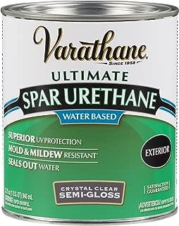 Rust-Oleum 250141H Ultimate Spar Urethane Water Based, Quart, Semi Gloss Finish