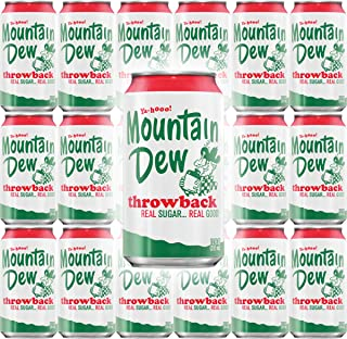 Mountain Dew Throwback, 12oz Can (Pack of 18, Total of 216 Fl Oz)