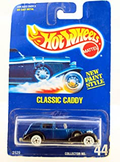Hot Wheels - 1992 - Classic Caddy - Cadillac - New Paint Style - Blue & Black - Collector #44 - Rare - Limited Edition - Collectible 1:64 Scale