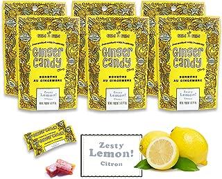Gem Gem Ginger Candy Chewy Ginger Chews (Lemon, 5.0oz, Pack of 6)