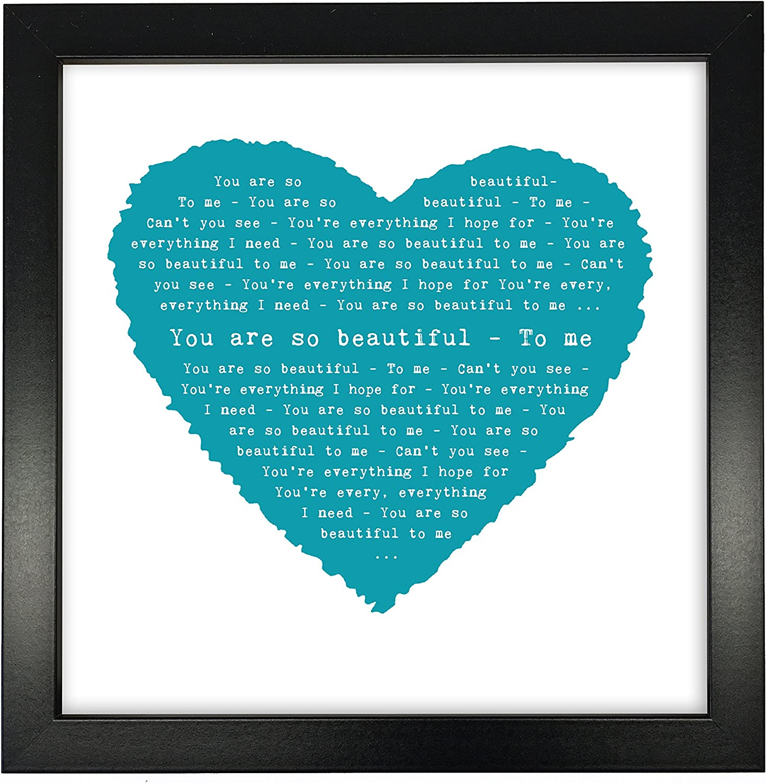 Max 76% OFF Joe Cocker You are 2021 model So Beautiful Idea Heart Personalised Print -