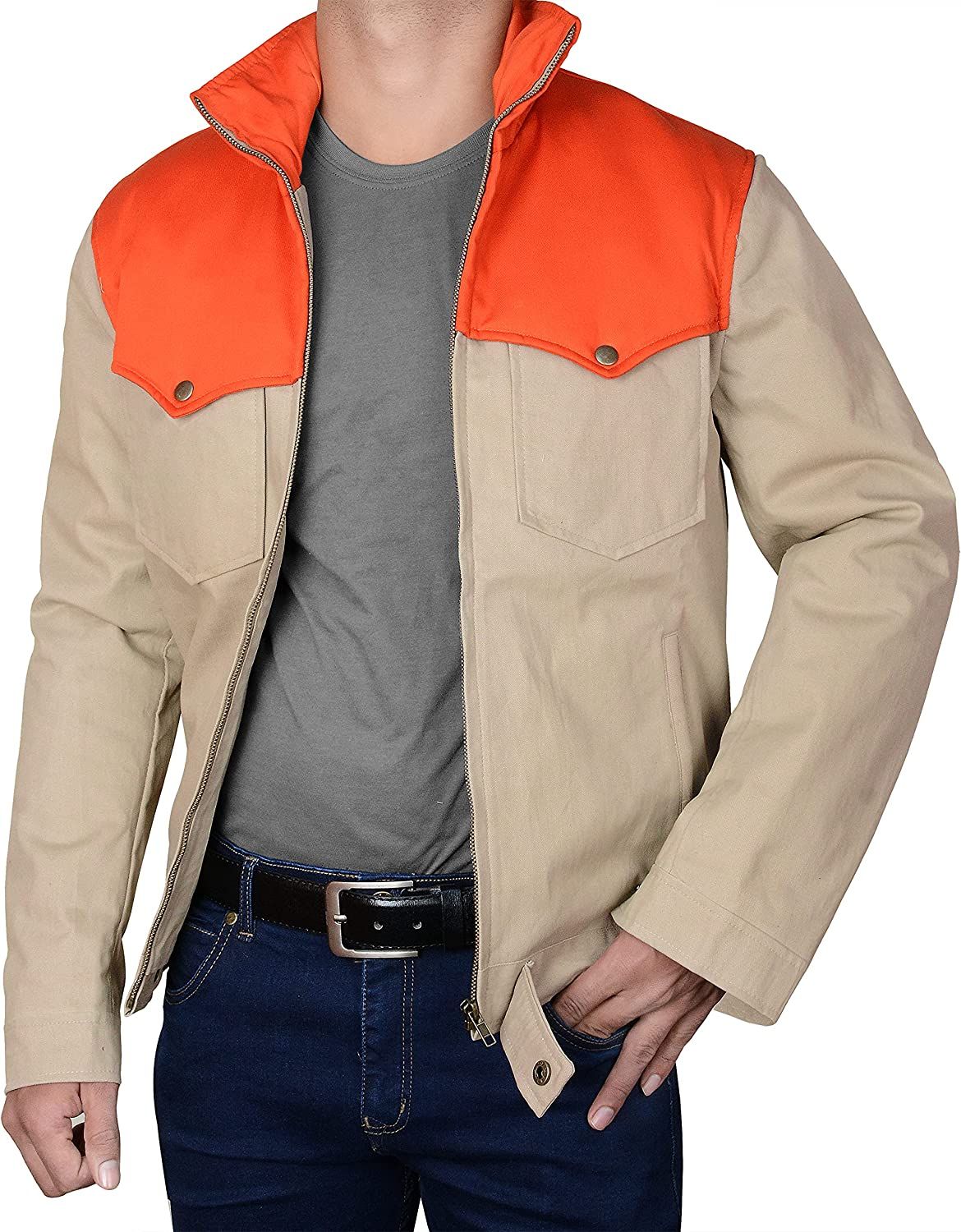 Yellow Mens Opening large release sale Max 89% OFF Stone Kevin Costner Dutton John Trucker Jacket Cowbo