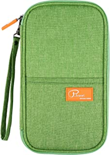 Passport Wallets, Waterproof Travel Wallet Family Passport Holder Document Card Organizer Case with Hand Strap, Ticket Credit ID Card Cash Pouch Money Bag for Men Woman by ManKn (Green)