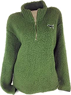 Pink Sherpa Pullover Green Large