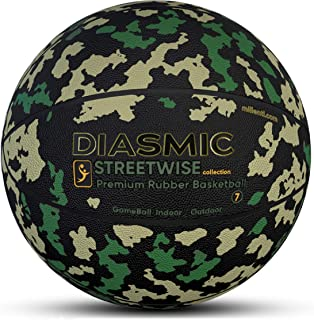 Millenti Basketball Ball Official Size Basketballs - Outdoor-Indoor Streetwise (Army Tactical)