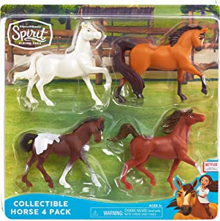 "DreamWorks Spirit Riding Free New Horses Collectible Horse 4-Pack (3.5"" Tall)"