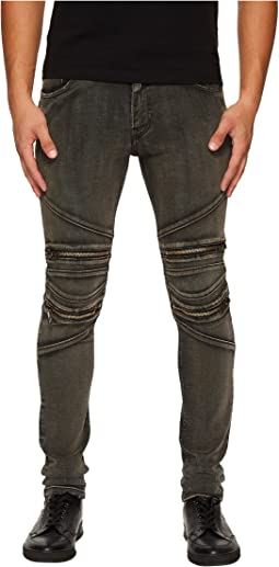 Just Cavalli - Zippered Moto Jeans