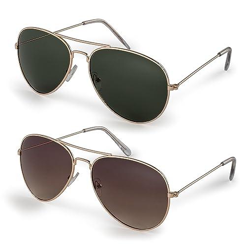 d51b9f8461b Stylle Classic Aviator Sunglasses with Protective Bag