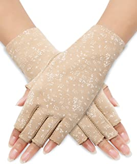 Sunblock Fingerless Gloves Summer Driving Gloves UV Protecting Gloves for Women