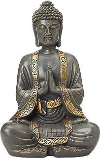 Zen'Light Grande Statue Bouddha Méditation , Résine, Bronze, 15 x 24 x 37.5 cm