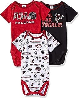 NFL 3 Pack Bodysuit 0-3 Months red