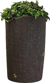 Good Ideas Imp-C90-Oak Impressions Tree Bark Rain Barrel, 90 Gallon, Oak