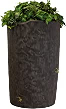 Good Ideas Imp-C90-Oak Impressions Tree Bark Rain Barrel, 90 Gallon, Oak