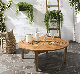 Safavieh Outdoor Collection Danville Teak Brown Round Table