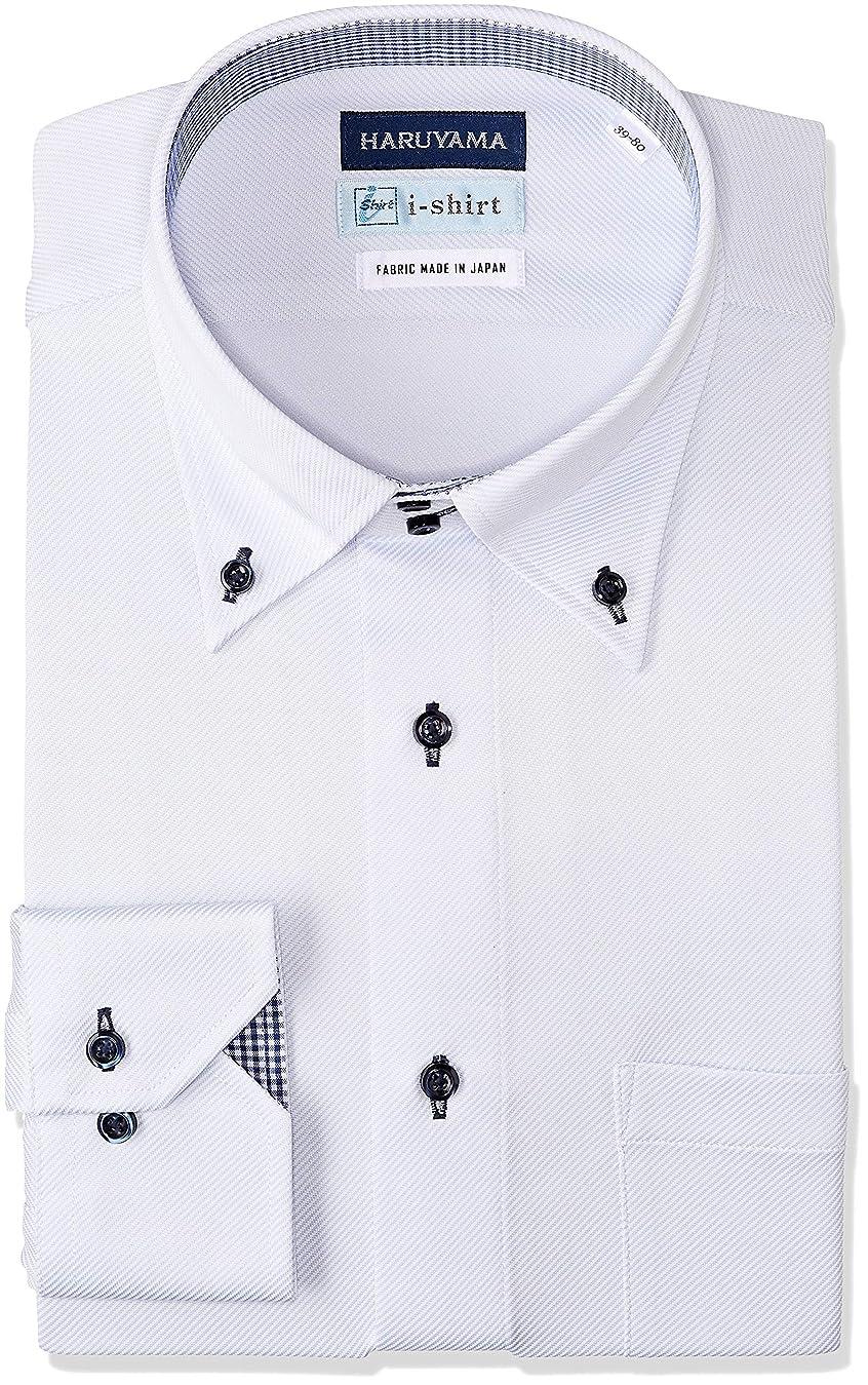 コンサート頻繁に流[ハルヤマ] i-shirt 完全ノーアイロン ストレッチ 速乾 長袖 アイシャツ ワイシャツ メンズ M151180090