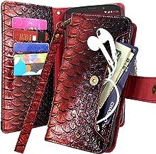 Galaxy J3 2018 / J3 Orbit/Achieve/J3 Express Prime 3/J3 Prime 2/J3 Emerge 2018/Amp Prime 3/J3 Eclipse 2/Sol 3/J3 Aura/J3 Star Case, Harryshell Kickstand Flip PU Wallet Leather Case (Red)