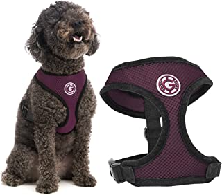 Gooby - Soft Mesh Harness, Small Dog Harness with Breathable Mesh, Purple, Medium