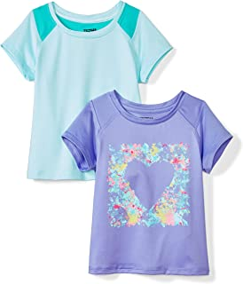 Amazon Brand - Spotted Zebra Girls Active Short-Sleeve T-Shirts