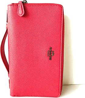 coach double zip travel organizer red