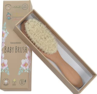 Little Tinkers World Natural Wooden Baby Hair Brush - Healthcare and Grooming for Newborns & Toddlers, Ideal for Baby Registry