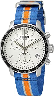 Men's 'Quickster' Swiss Quartz Stainless Steel and Nylon Watch, Multi Color (Model: T0954171703706)