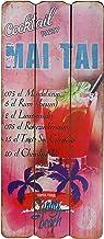 Woodpassion Cartel de Madera Beach Bar Tropical Bar Pared Cartel MDF Pared Placa para Puerta Decorativa, Playa Vacaciones Welcome Cóctel Beer Sótano Decorativa, 34x 15cm