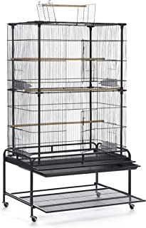 Prevue Pet Products Playtop Flight Bird Cage with Stand - F085, Black