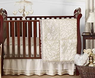 Sweet Jojo Designs 11-Piece Champagne and Ivory Victoria Baby Bedding Girl Crib Set Without Bumper