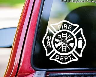 Minglewood Trading Fire Department vinyl decal sticker 5