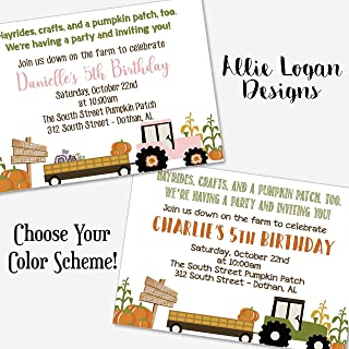 Pumpkin Patch Hayride Custom Party Invitation
